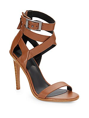 Vanya Leather Ankle-Strap Sandals