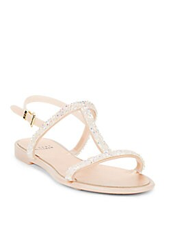 Stuart Weitzman Crystal embellished sandals