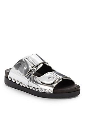 Skip Rock Metallic Leather Sandals