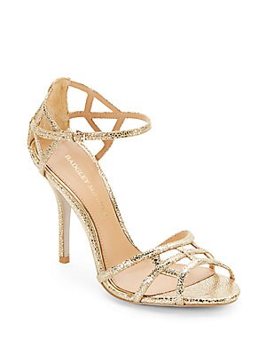 Kerrington Metallic Leather Strappy Sandals