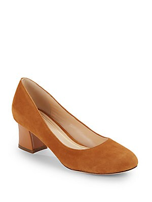 Chelsea Suede & Patent Leather Pumps
