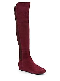 $349.99 Stuart Weitzman Over-The-Knee Wedge Boots