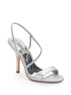 Viola Embellished Metallic Sandals