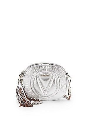 Nina Metallic Leather Crossbody Bag