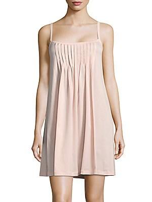 Pleat Slip Dress