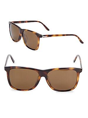 gucci 63mm polarized tortoise wayfarer sunglasses