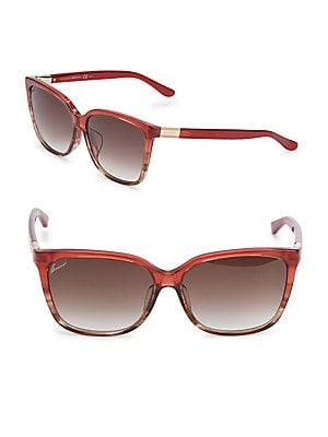 gucci female 250960 58mm squared sunglasses