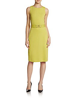 Lafayette Designer Clothing For Women Santana Belted Knit Dress