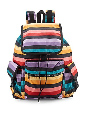lesportsac female voyager printed backpack