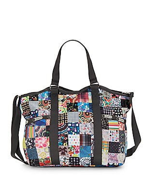 Small Print Carryall Tote