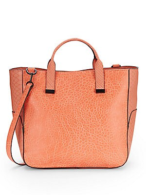 Animal Embossed Faux Leather Tote