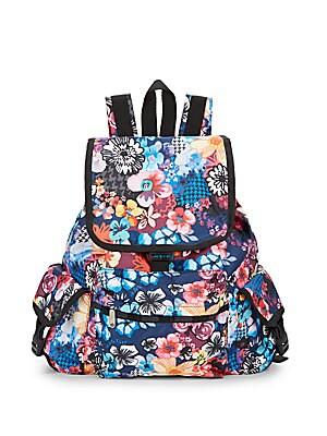 Voyager Floral-Print Backpack