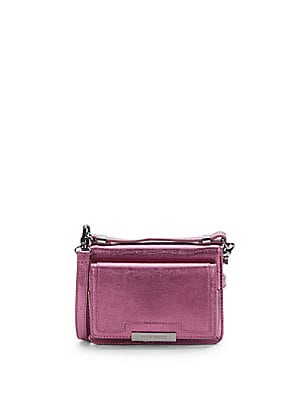 Saffiano Metallic Leather Wallet Crossbody Bag