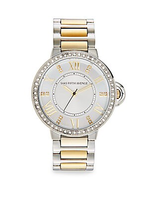 Two-Tone Stainless Steel Link Bracelet Watch