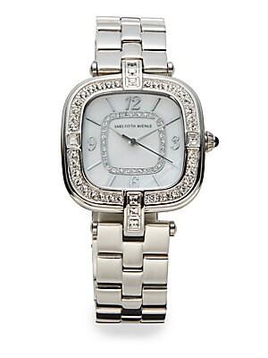 Stainless Steel Jeweled Bracelet Watch