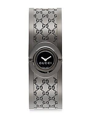 Textured Stainless Steel Bracelet Watch