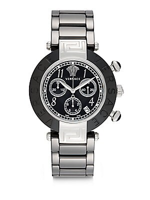 Stainless Steel Ceramic Link Chronograph Bracelet Watch