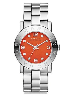 Amy Glitz Stainless Steel Bracelet Watch
