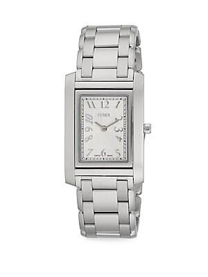 Loop Stainless Steel Rectangular Bracelet Watch