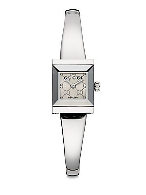 gucci female gframe stainless steel watch
