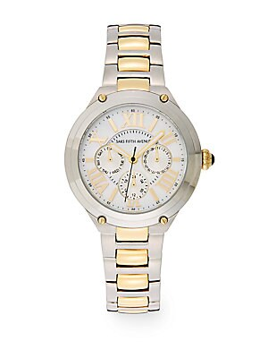 Stainless Steel & Goldtone IP Chronograph Dial Watch