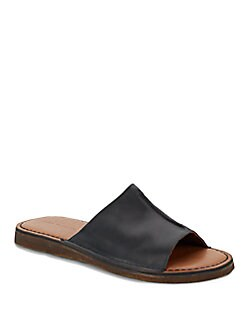 John Varvatos Venice Leather Slide Sandals
