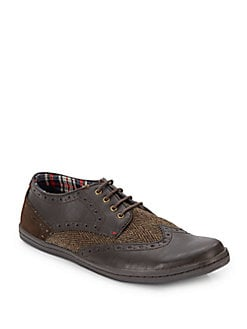 Ben Sherman Leather, Suede & Tweed Wingtips