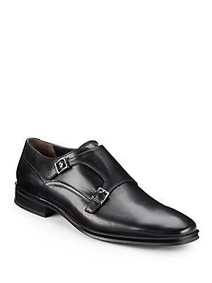 Paro Leather Double Monkstrap Shoes