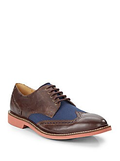 Cole Haan Franklin Leather & Canvas Wingtips