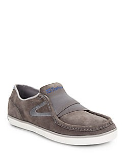 Tretorn Ollie Suede Slip-On Sneakers