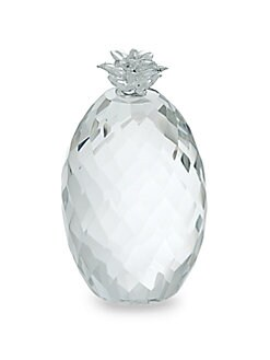 Saks Fifth Avenue - Faceted Crystal Pineapple Paperweight