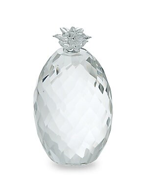 Faceted Crystal Pineapple Paperweight