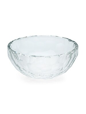 Faceted Crystal Bowl