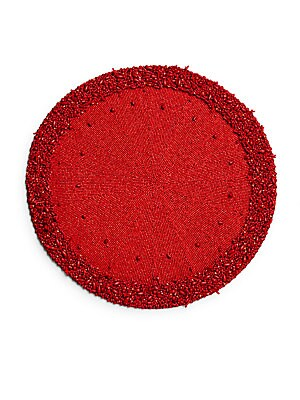 Fire Coral Beaded Placemat