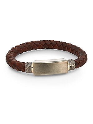 Stainless Steel & Leather Cord Bracelet