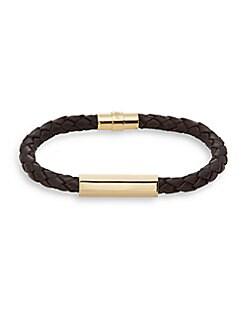 Astoria Braided Leather Bracelet
