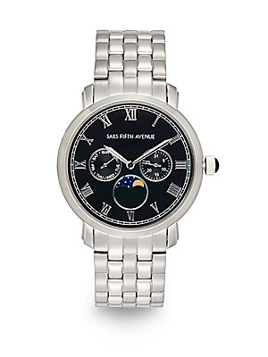 Chronograph Stainless Steel Link Bracelet Watch