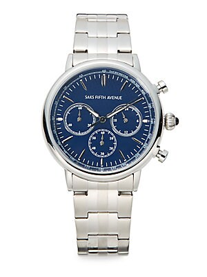 Stainless Steel Chronograph Link Watch