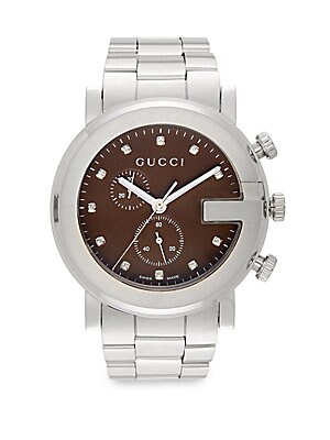 Diamond & Stainless Steel Chronograph Bracelet Watch