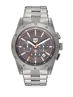 Stainless Steel Screw-Bezel Chronograph Watch
