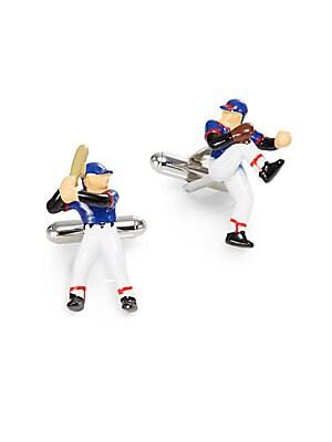 Baseball Player Cuff Links