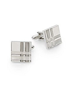 Etched Square Cuff Links
