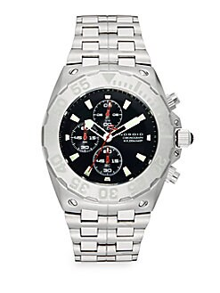 Stainless Steel Chronograph Link Bracelet Watch