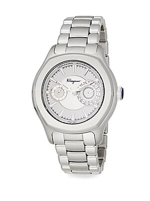 Lungarno Stainless Steel Bracelet Watch