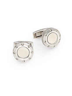 Stainless Steel Screw Cuff Links
