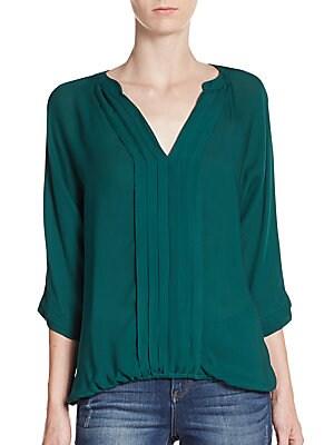 Marru Silk Pleated Blouse