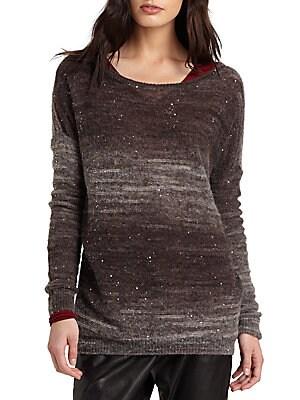 Sequin Burnout Sweater