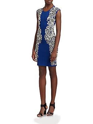 Knit Side-Pattern Dress