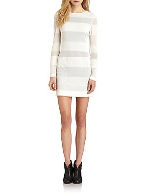 Mesh Stripe Dress