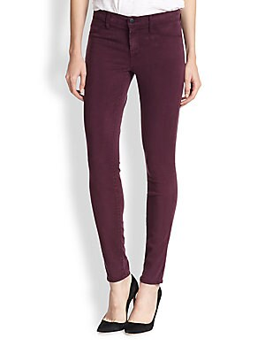 Luxe Sateen Mid-Rise Skinny Jeans